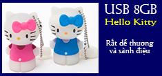 USB Hello Kitty 8GB cực dễ thương và sành điệu